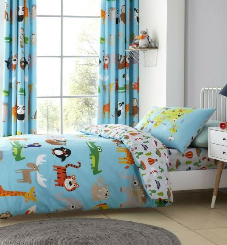 Catherine Lansfield Animal Adventures Blue Bedding Set